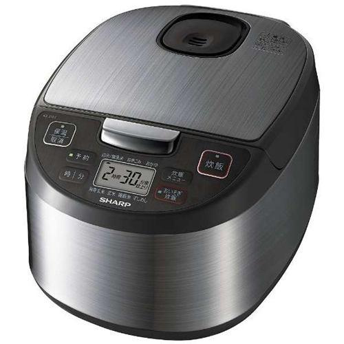 シャープ 炊飯器 5.5合黒厚釜&球面炊き マイコン KS-S10J-S
