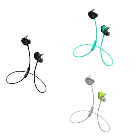 Bose SoundSport wireless headphones ブラック/アクア/シトロン